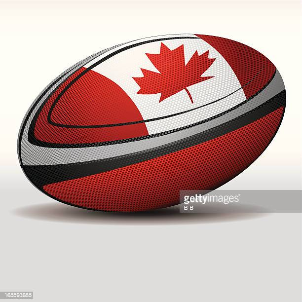 rugby ball-canada - traditional sport stock illustrations, clip art, cartoons, & icons
