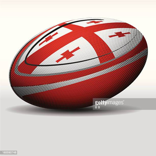 rugby-ball-georgia - georgien stock-grafiken, -clipart, -cartoons und -symbole