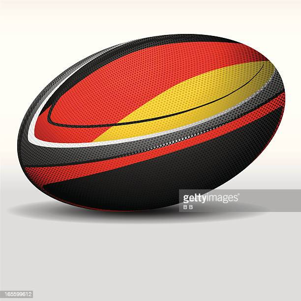 rugby ball-germany - rugby ball stock illustrations, clip art, cartoons, & icons