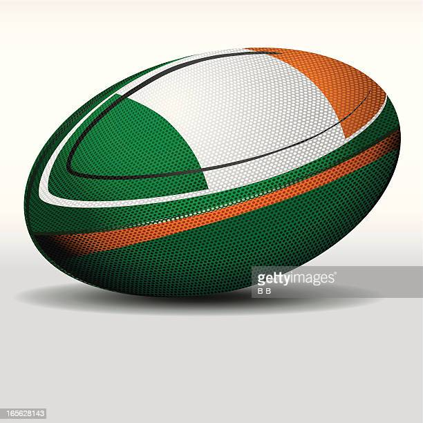 rugby ball-ireland - rugby ball stock illustrations, clip art, cartoons, & icons