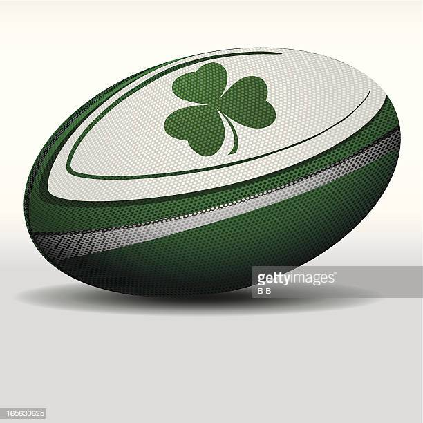 rugby ball-irelands - rugby ball stock illustrations, clip art, cartoons, & icons