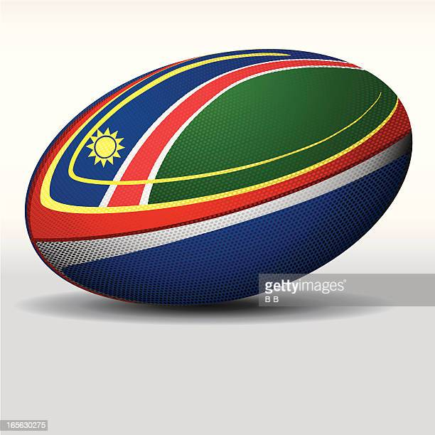 rugby ball-namibia - namibia stock illustrations, clip art, cartoons, & icons