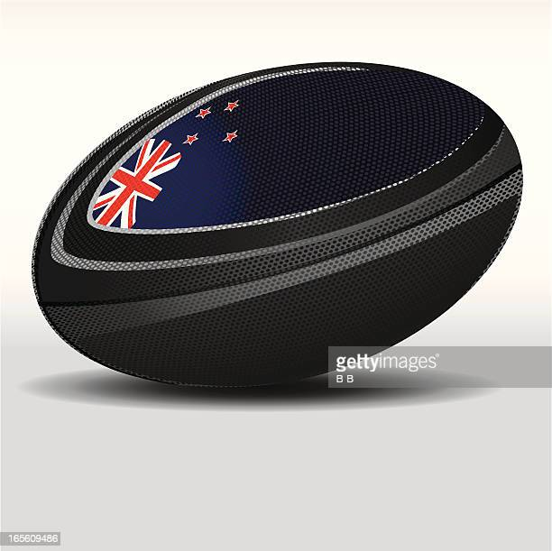 rugby ball-new zealand - rugby ball stock illustrations, clip art, cartoons, & icons