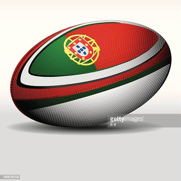 rugby ball-portugal - rugby ball stock illustrations, clip art, cartoons, & icons