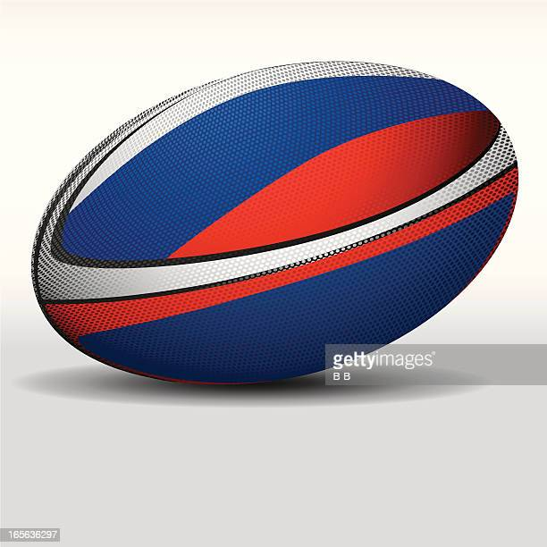 rugby ball-russia - rugby ball stock illustrations, clip art, cartoons, & icons