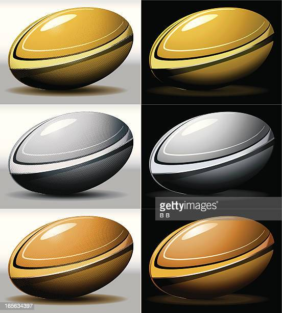 rugby balls - rugby ball stock illustrations, clip art, cartoons, & icons