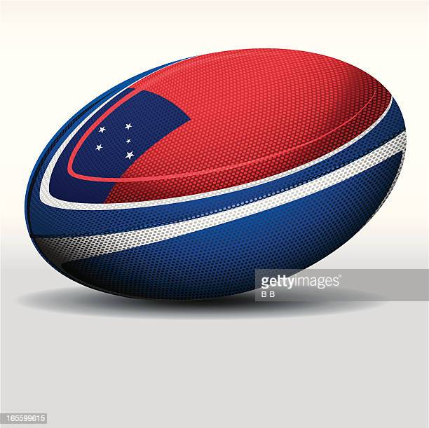 rugby ball-samoa - rugby ball stock illustrations, clip art, cartoons, & icons