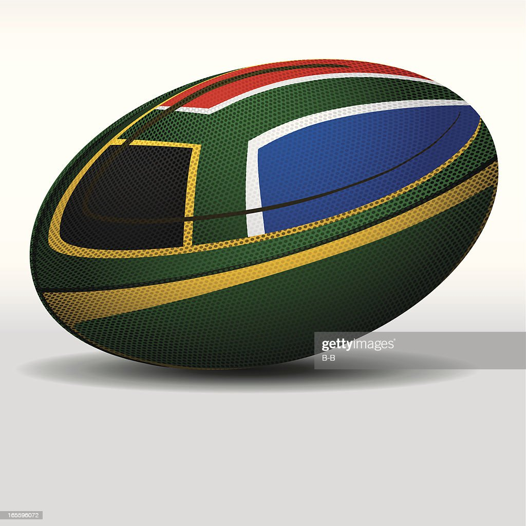 Rugby ball-South Africa : stock illustration
