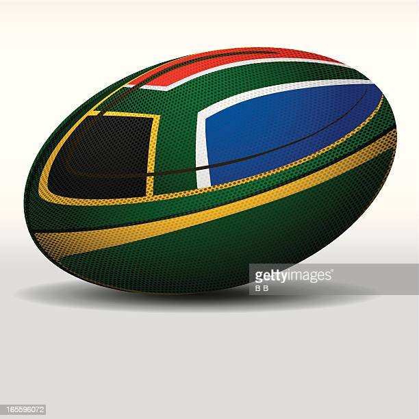 rugby ball-south africa - rugby ball stock illustrations