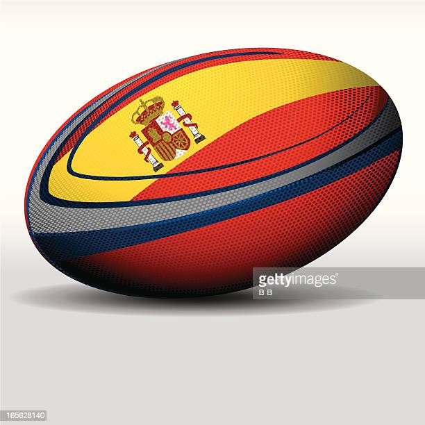 rugby ball-spain - traditional sport stock illustrations, clip art, cartoons, & icons