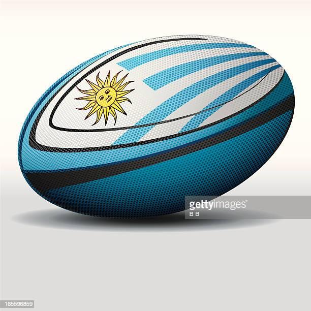 rugby ball-uruguay - uruguay stock illustrations