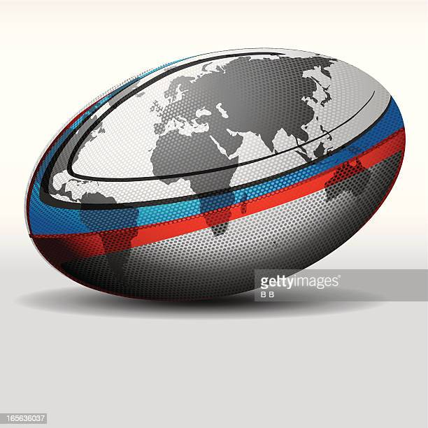 rugby ball-world - rugby ball stock illustrations, clip art, cartoons, & icons