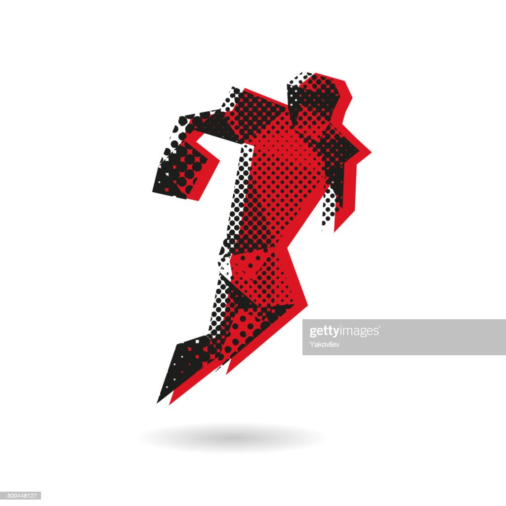 Rugby football abstract isolated on a white background, vector illustration