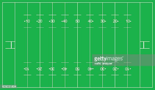 rugby league field - rugby pitch stock illustrations