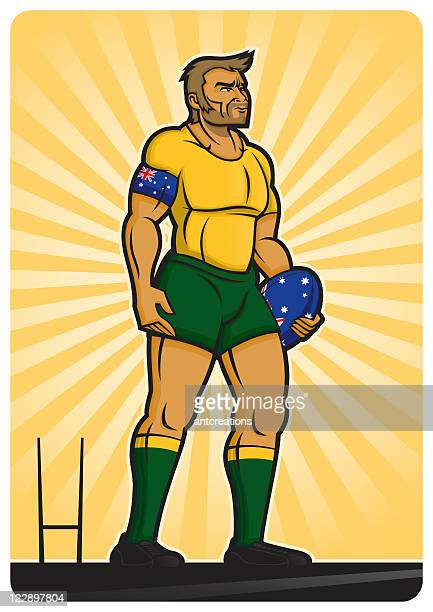 rugby player australia - rugby union stock illustrations