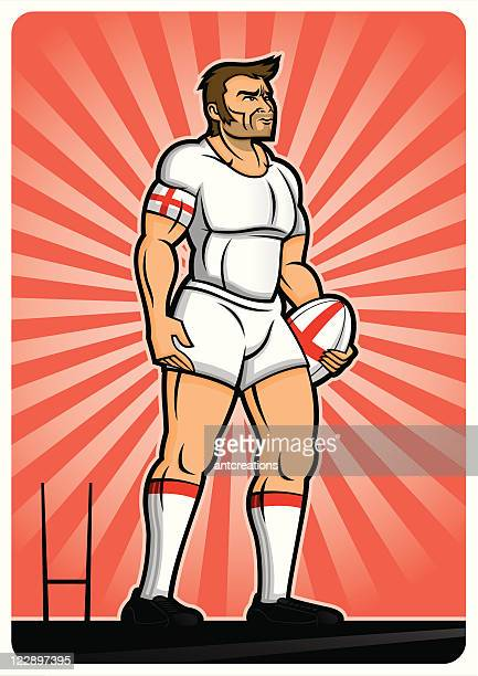 rugby player england - rugby shirt stock illustrations, clip art, cartoons, & icons