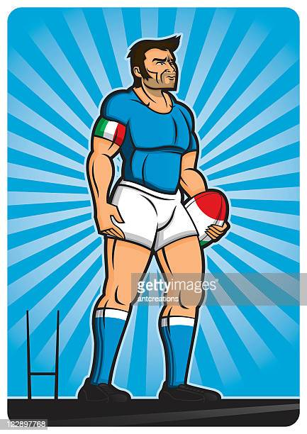 rugby player italy - rugby shirt stock illustrations, clip art, cartoons, & icons