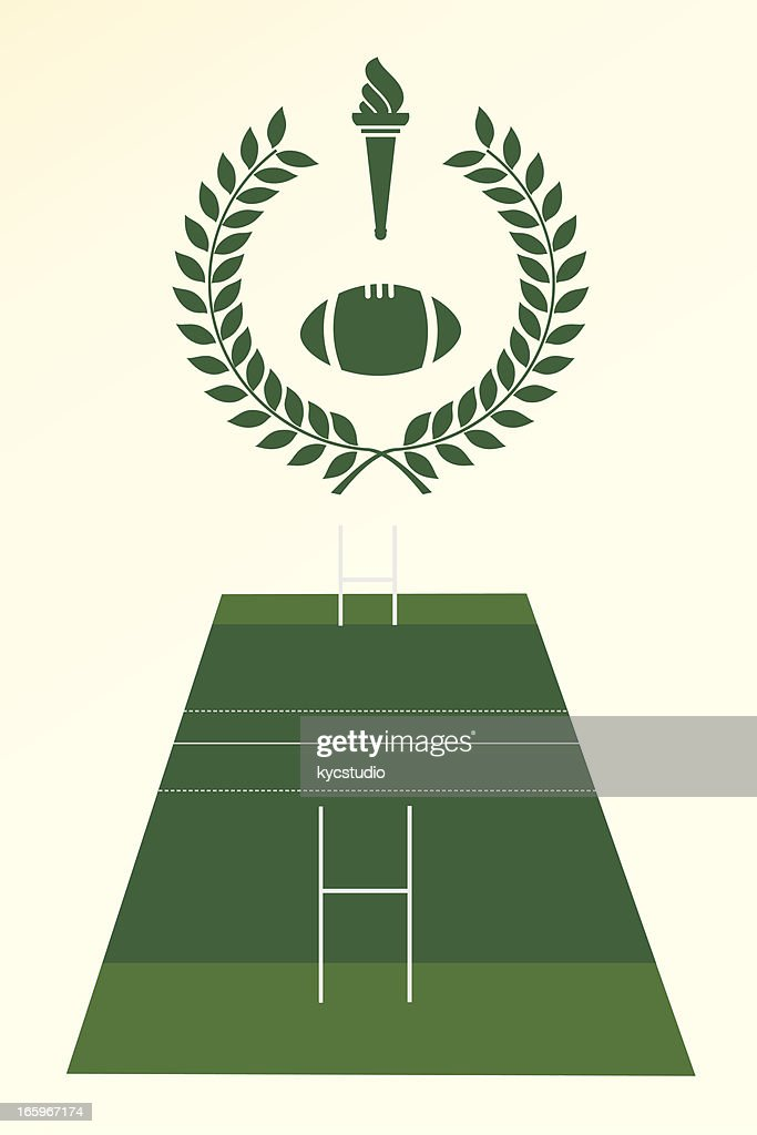 Rugby poster and emblem : stock illustration