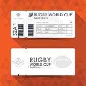 Rugby Ticket Card design, Vector illustration.