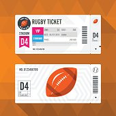 Rugby Ticket Card modern element design