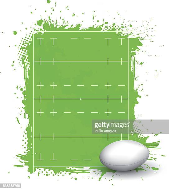 rugby union field - rugby union stock illustrations