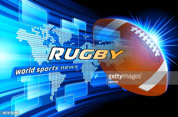 rugby - rugby ball stock illustrations, clip art, cartoons, & icons