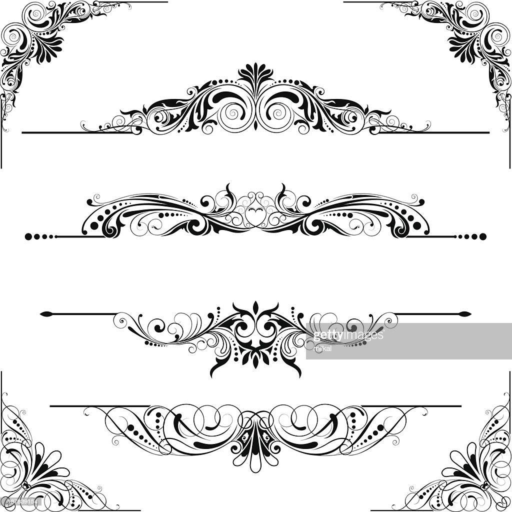 Rule line and corner design elements