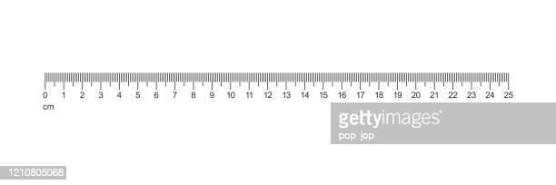 ruler 25 cm. measuring tools vector. - centimetre stock illustrations