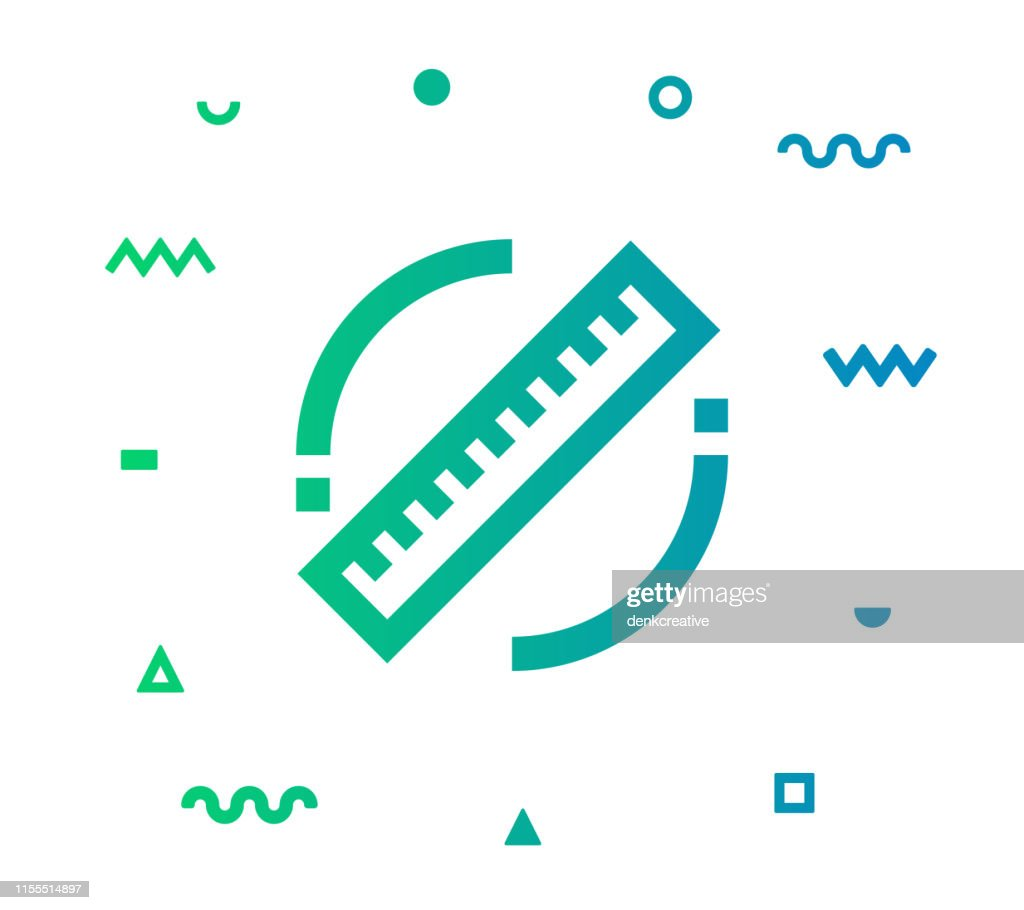 Ruler Line Style Icon Design : Stock Illustration