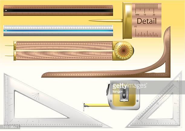 ruler - inch stock illustrations