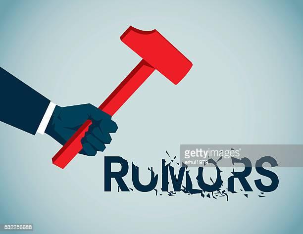 rumors - demolished stock illustrations