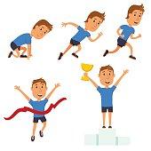 Run man. Running competition