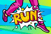 Run Message in pop art style