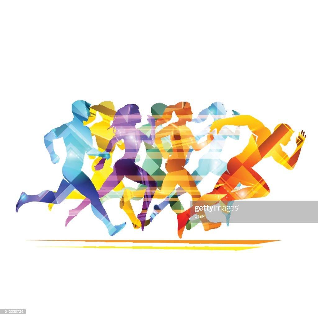 Run people illustration