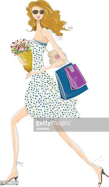 ilustrações de stock, clip art, desenhos animados e ícones de execução para comprar! - mulheres jovens