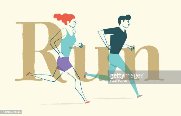 run - aire libre stock illustrations, clip art, cartoons, & icons