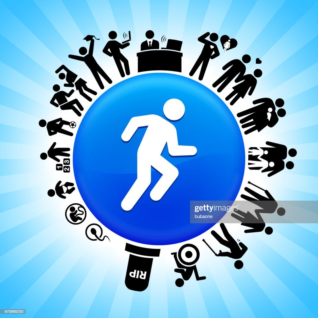 Runner Athlete Lifecycle Stages of Life Background : Stock Illustration