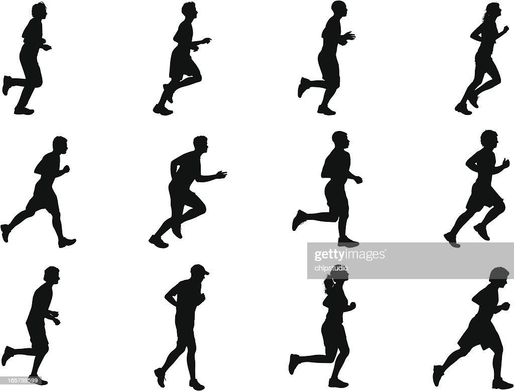 Runner Silhouettes : Stock Illustration