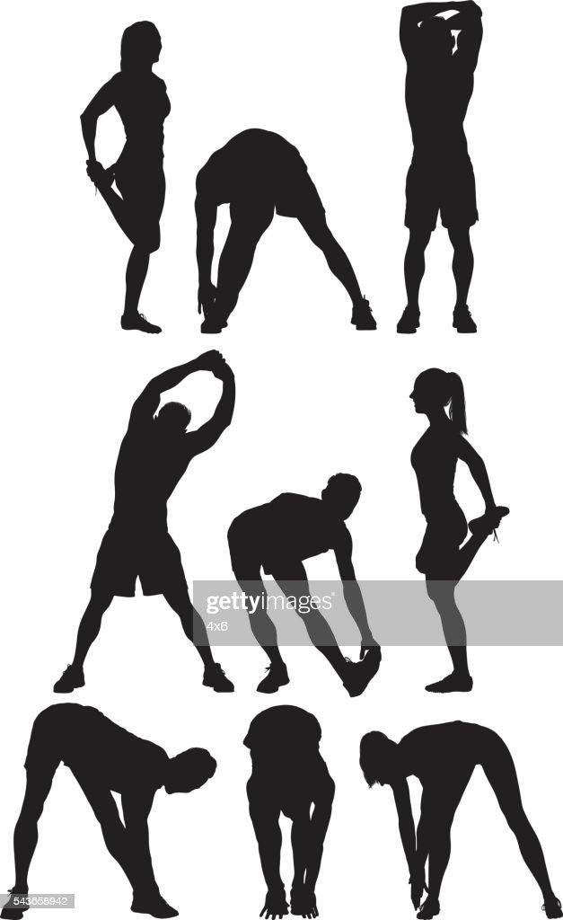 Runner stretching : stock illustration