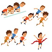 Runners cartoon character