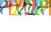 Runners legs sillhouettes