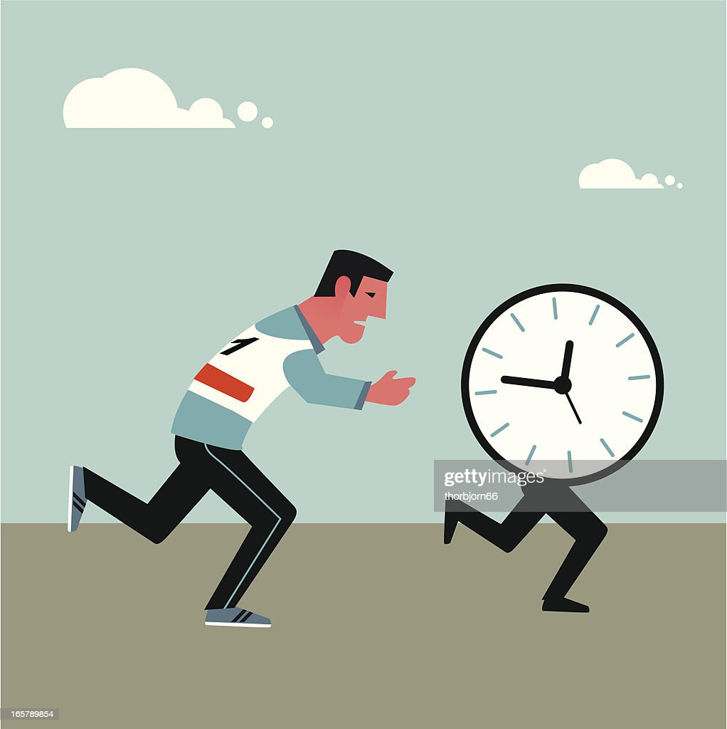 Running after time : stock illustration