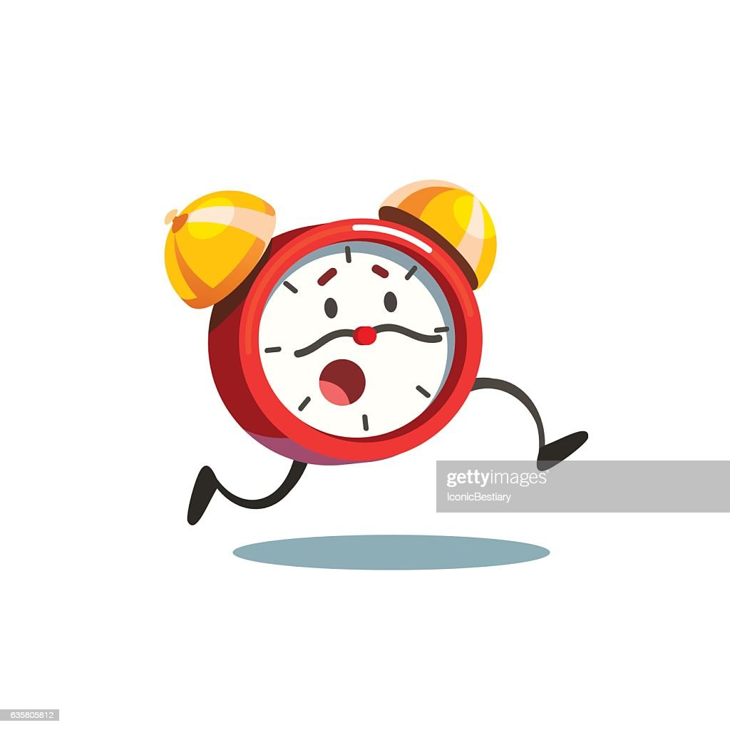 Running animated alive alarm clock