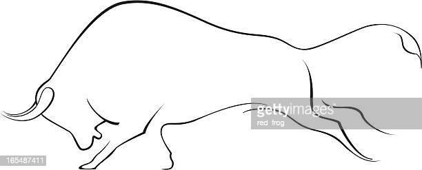 Bull Running Stock Illustrations Getty Images