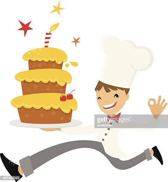 ランニングシェフとケーキ