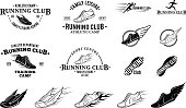 Running Club Labels, Icons and Design Elements