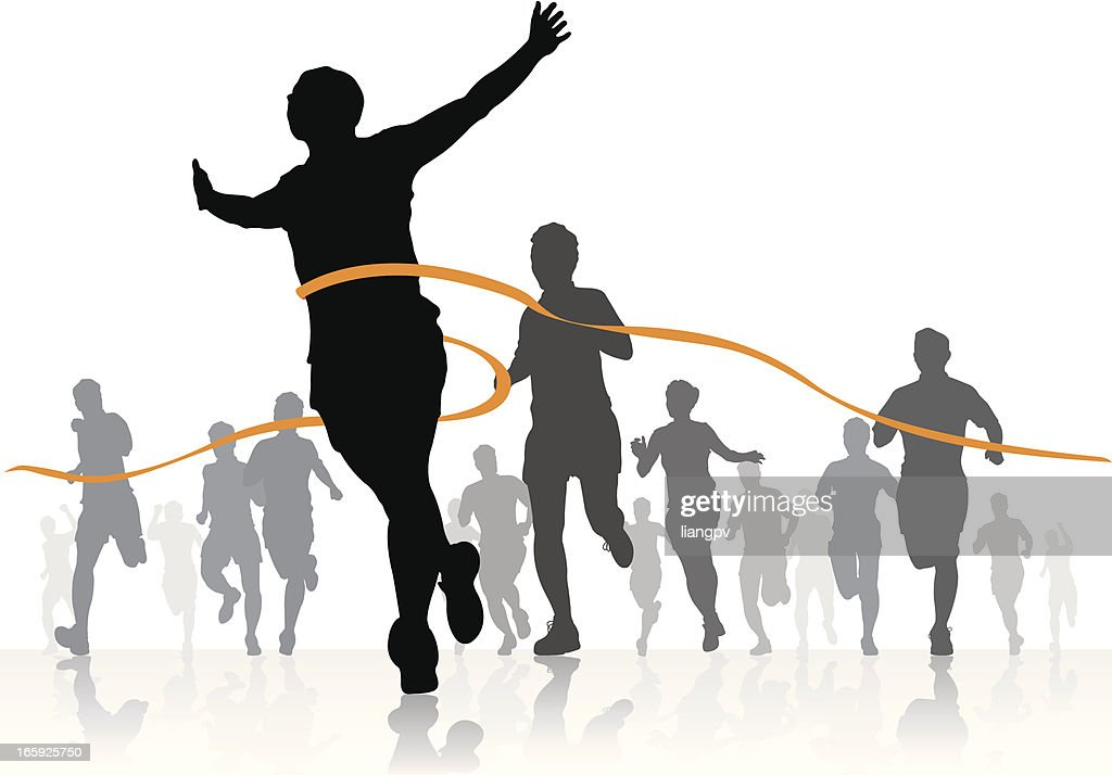 Running competition : stock illustration