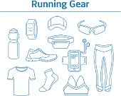 Running Gear For Men And Women. Linear Style Running Accessories.