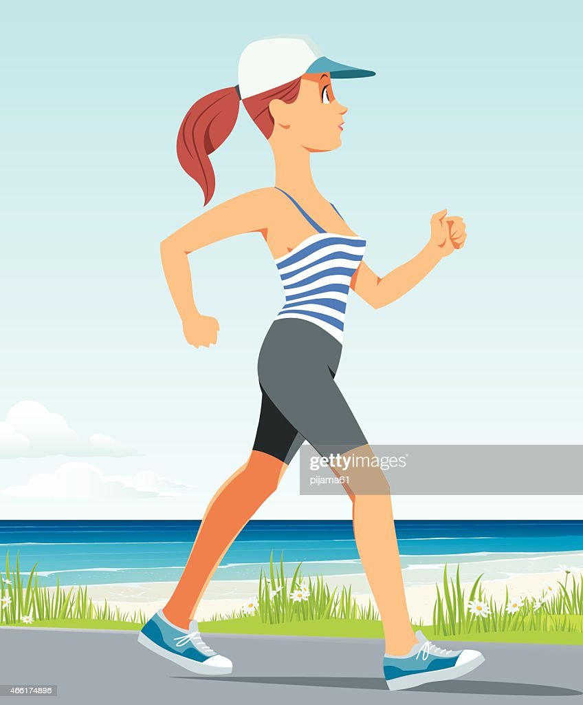 running Mädchen : Stock-Illustration