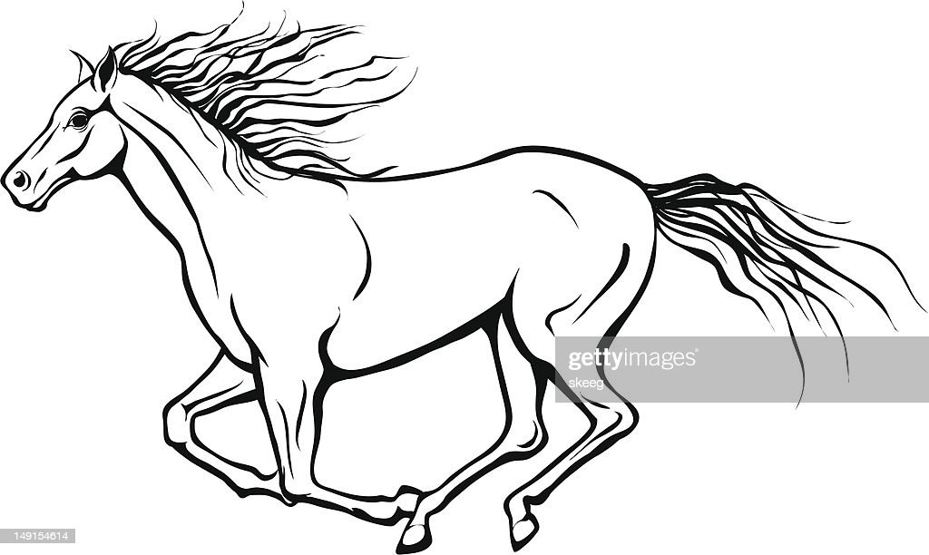 Running Horse High Res Vector Graphic Getty Images